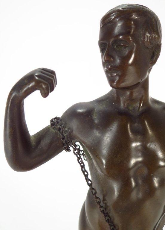 Schwatenberg, Ger,act.1898-1922, Male Nude, Bronze - 4