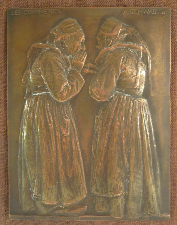 "Andre Schwab, Fr. b. 1883, ""Les Commères"" Bronze"