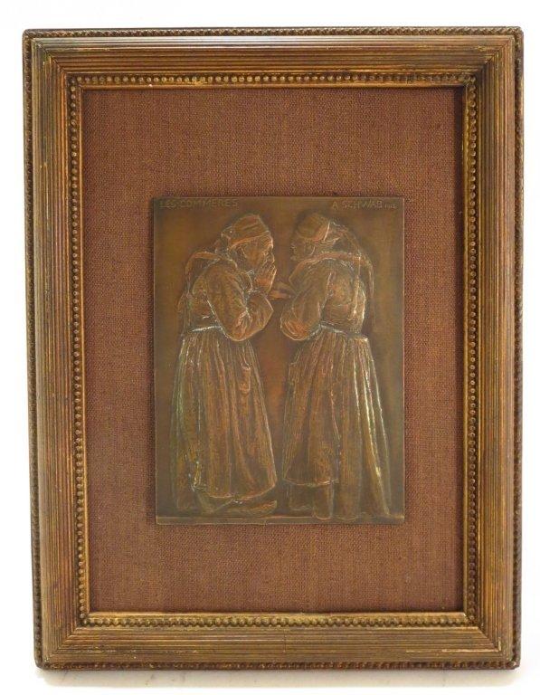 "Andre Schwab, Fr. b. 1883, ""Les Commères"" Bronze - 2"