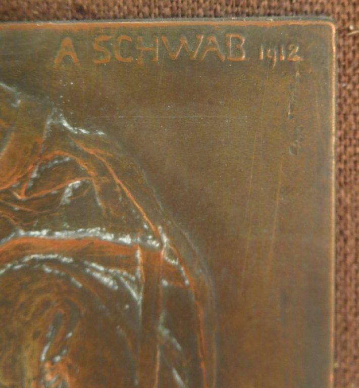 "Andre Schwab, Fr. b. 1883, ""Les Commères"" Bronze - 5"