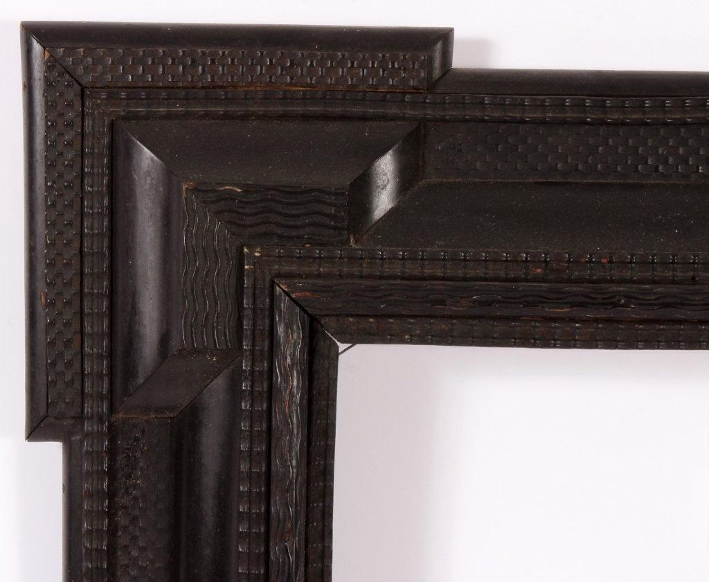 Dutch Ebonized Ripple Corner Frame, 17th/18th c.