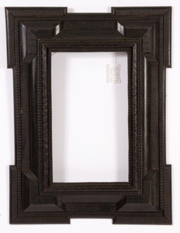 Dutch Ebonized Ripple Corner Frame, 17th/18th c. - 2