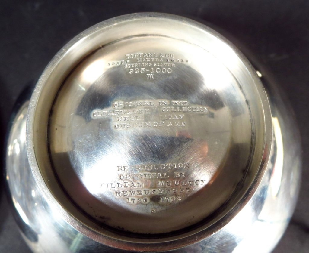 T & Co Sterling Sauce Boat, Ladle, & Under plate - 5