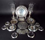 Sterling Tiffany  Co Dish and other objects