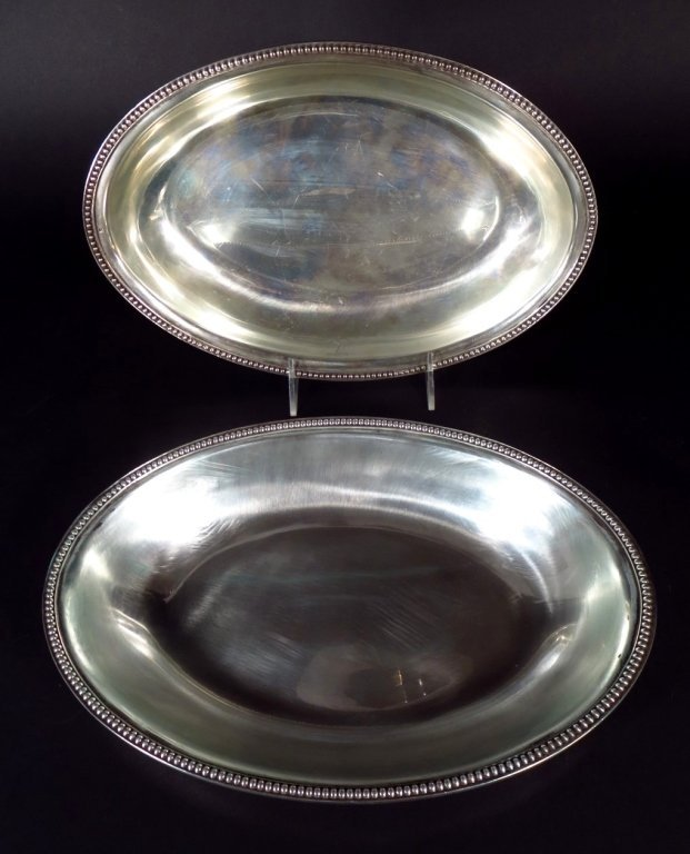 Pair of Sterling Oval Dishes, English, 1799