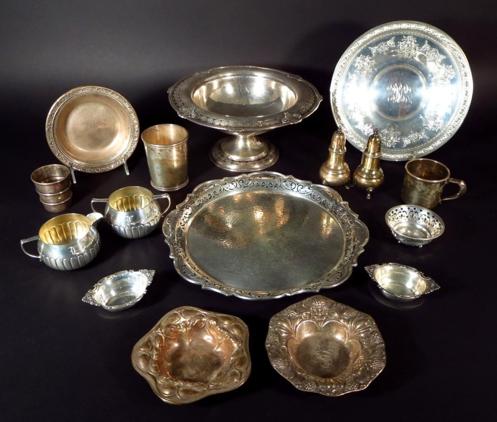 Sterling Silver Tableware, Am. & English, 20th C.