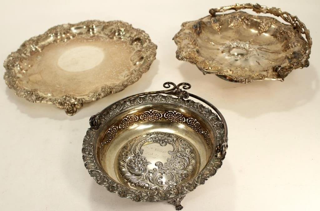Lot of 12+ Silverplate Items w/ Large Serving Dome - 2