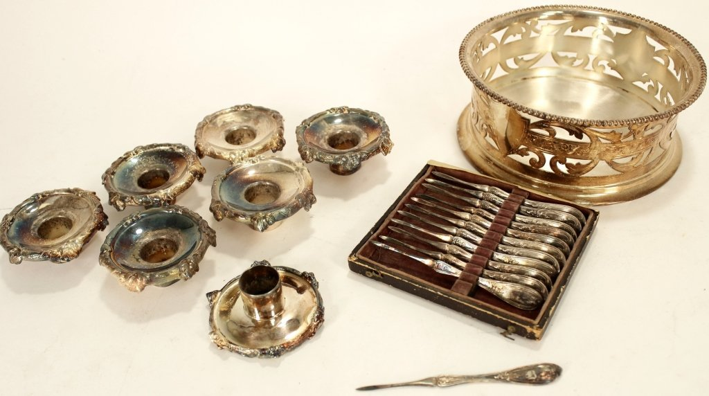 Lot of 12+ Silverplate Items w/ Large Serving Dome - 6