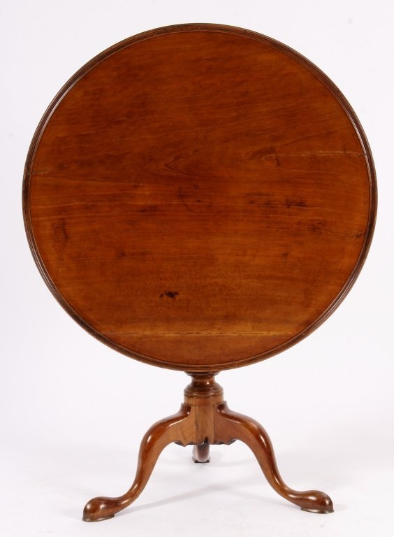 Chippendale Tilt Top Table American 18th C.