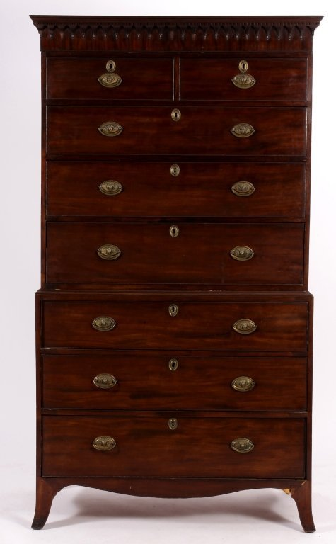 George III Chest on Chest English, C.1800