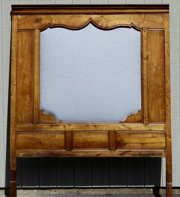 French Fruitwood Wall Panel as Headboard