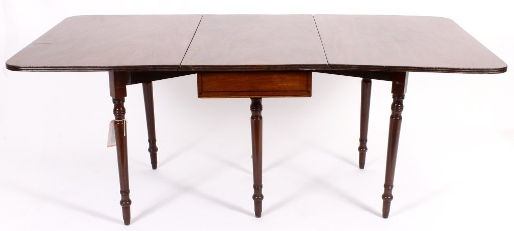 George III Drop Leaf Mahogany Table c.1800 - 3