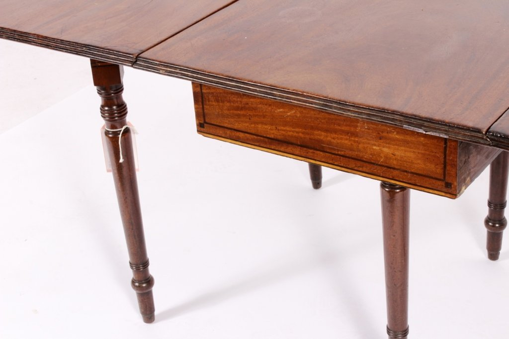 George III Drop Leaf Mahogany Table c.1800 - 4