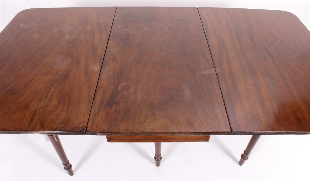 George III Drop Leaf Mahogany Table c.1800 - 5