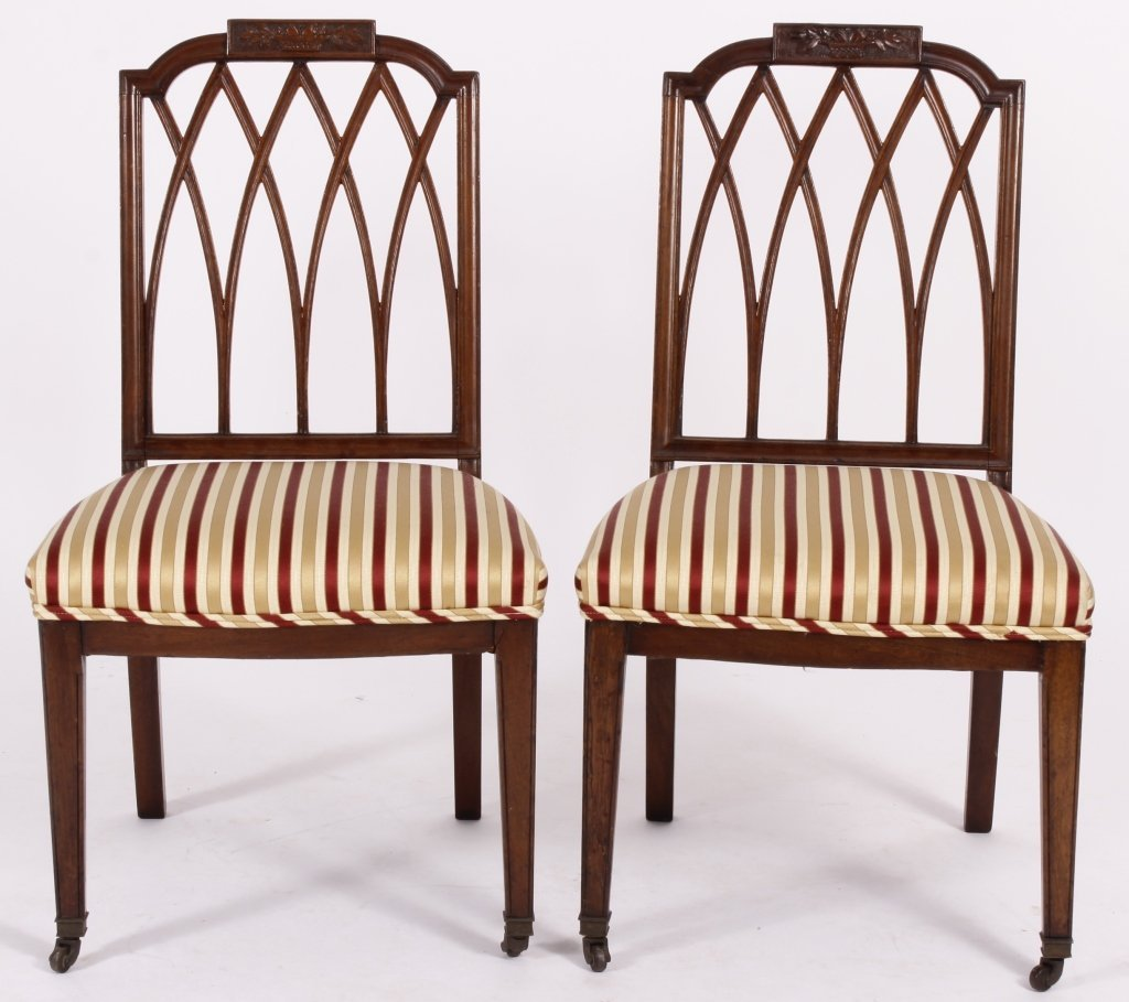 Pair of late George III Chairs c. 1800