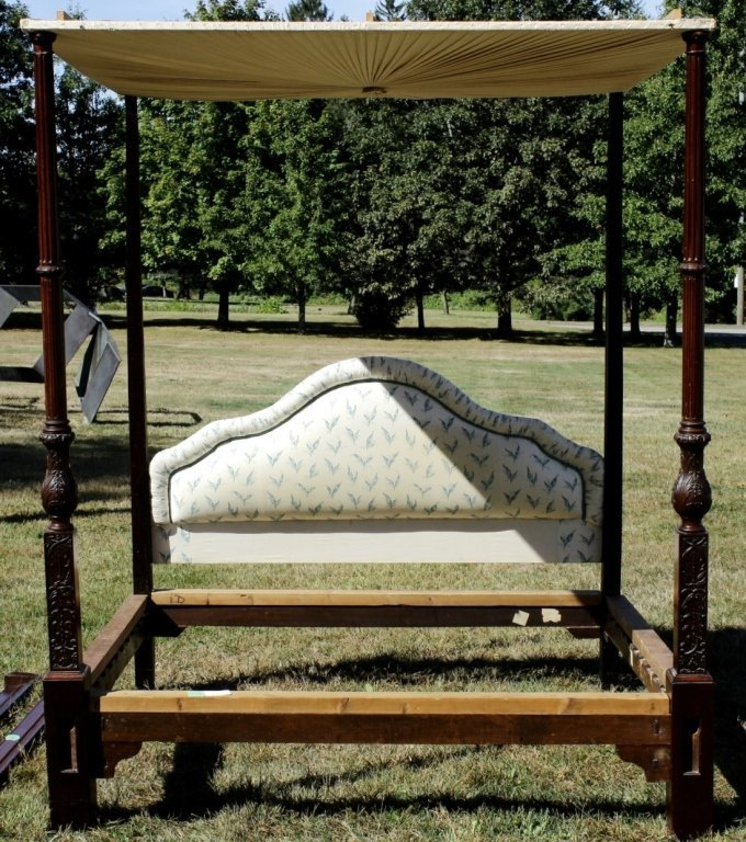 George III Four Poster Tester Bed English c. 1800
