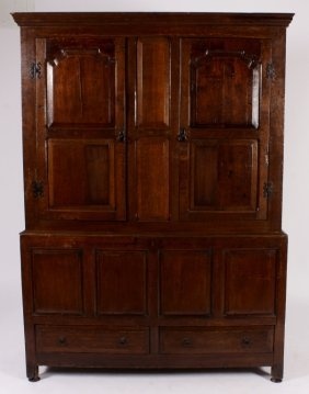 French Provincial Two Part Cupboard 18th/19th C.