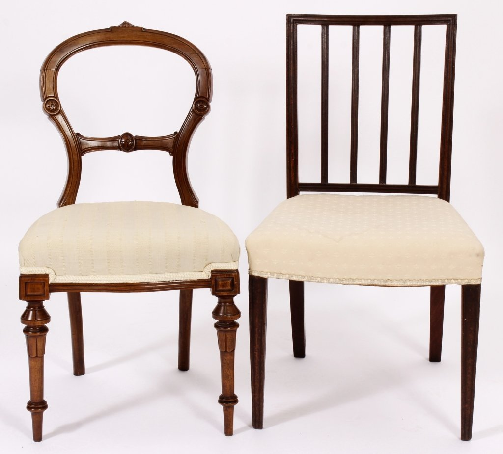 2 Side Chairs: George III & Eastlake 18th & 19th C