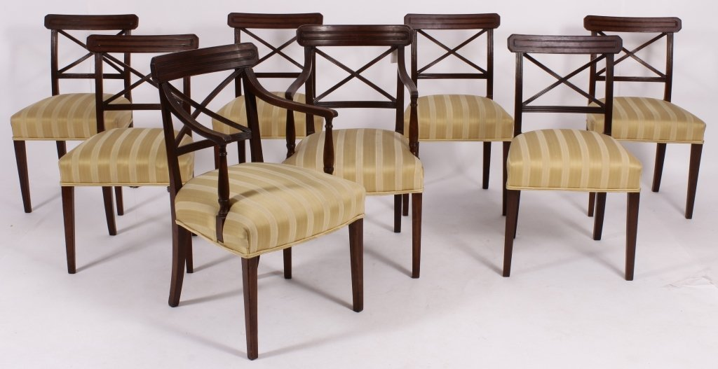 Set of 8 George III / Regency Chairs early 19th C.