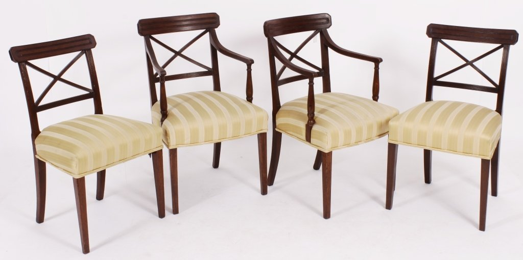 Set of 8 George III / Regency Chairs early 19th C. - 3