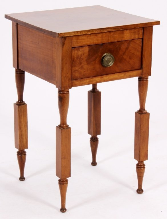American Maple Side Table, 19th C.,