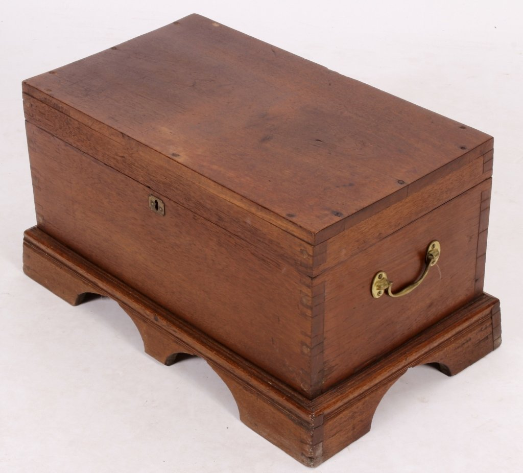 19th C. English Mahogany Storage Chest - 2