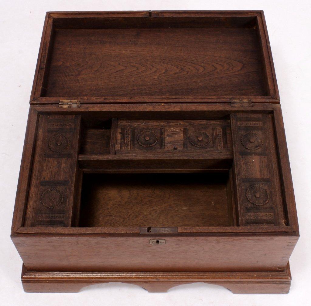 19th C. English Mahogany Storage Chest - 4