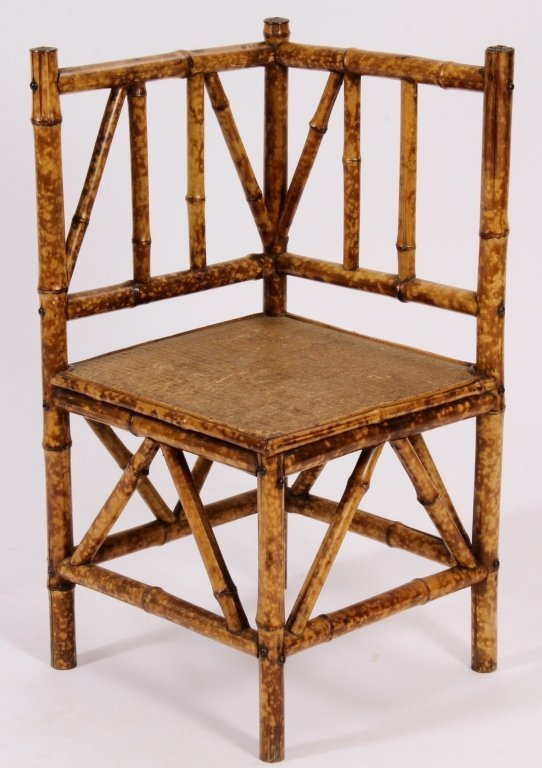 Aestheticism Bamboo Corner Chair Am Late 19th C
