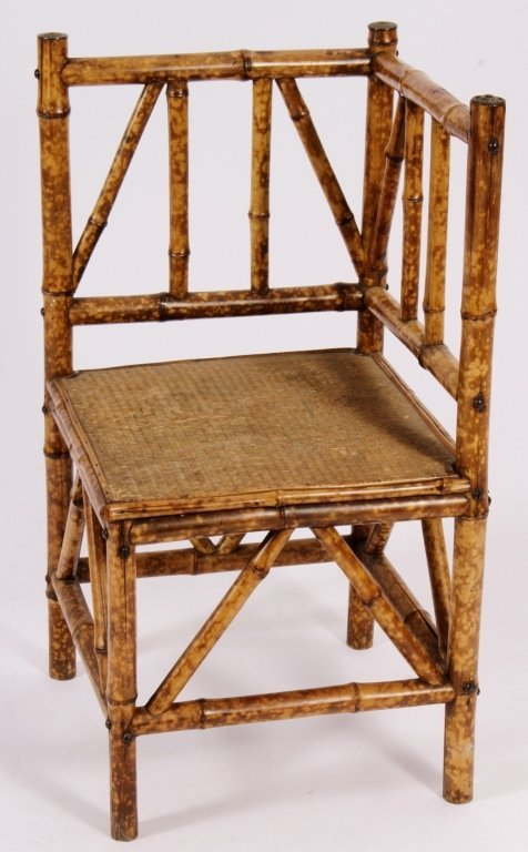 Aestheticism Bamboo Corner Chair Am Late 19th C - 2