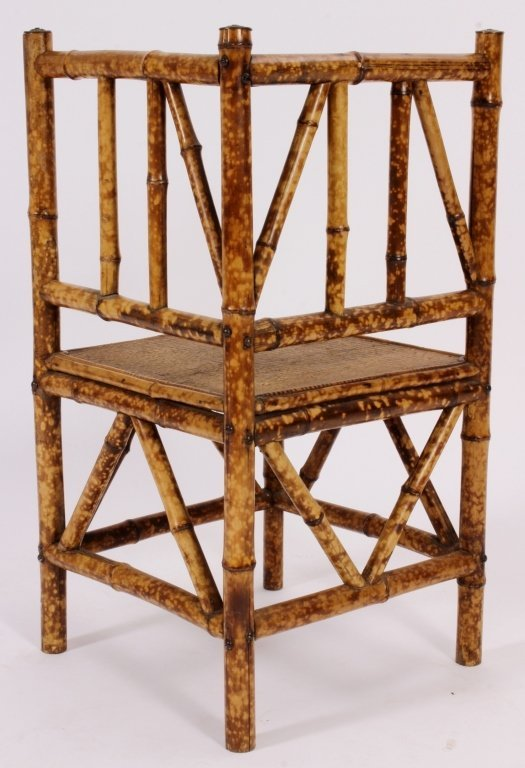 Aestheticism Bamboo Corner Chair Am Late 19th C - 5
