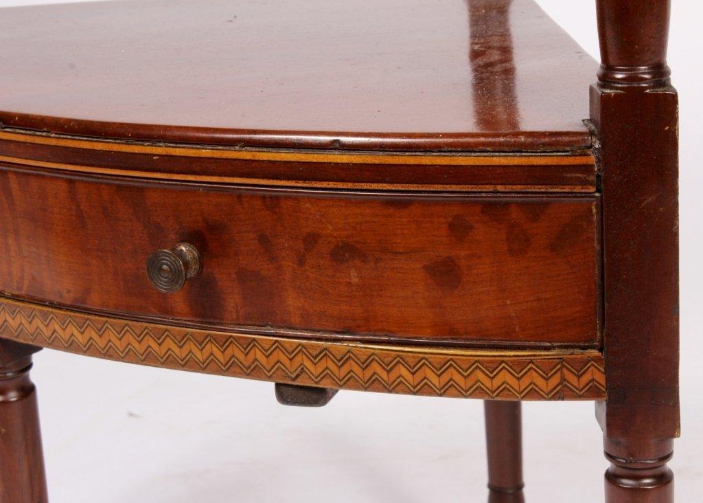 Mahogany Corner Washstand w/ Inlay c. 1900 - 6