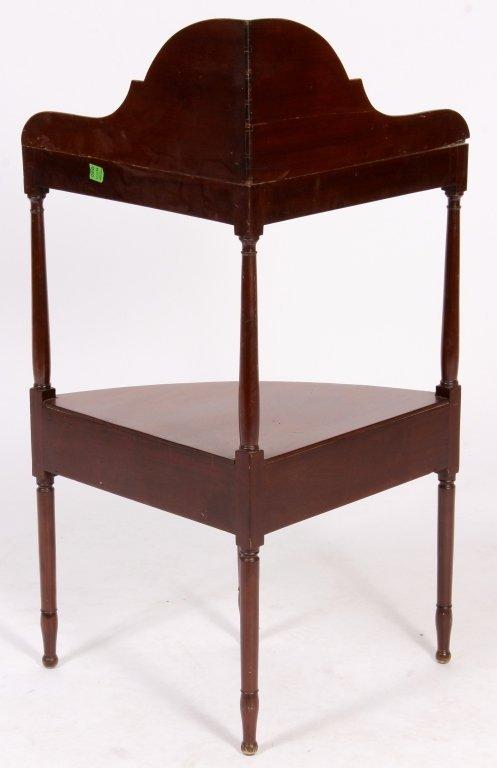 Mahogany Corner Washstand w/ Inlay c. 1900 - 7