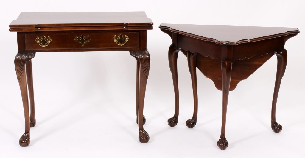 Chippendale Style Gateleg Table and a Games Table