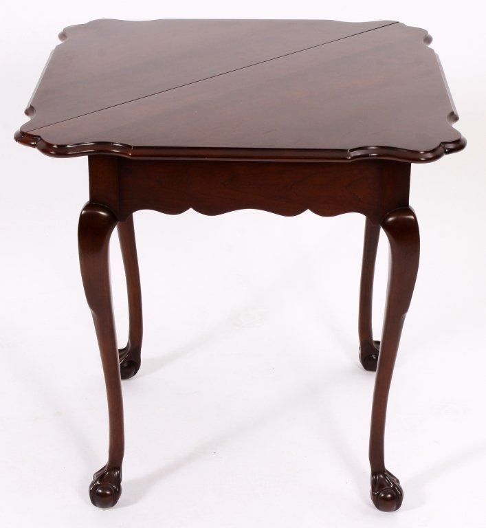 Chippendale Style Gateleg Table and a Games Table - 2