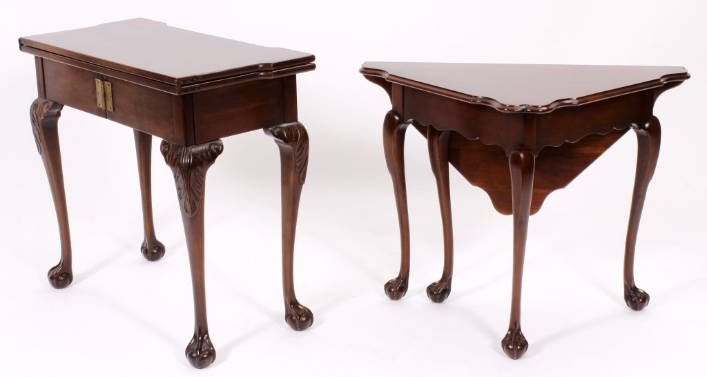 Chippendale Style Gateleg Table and a Games Table - 6