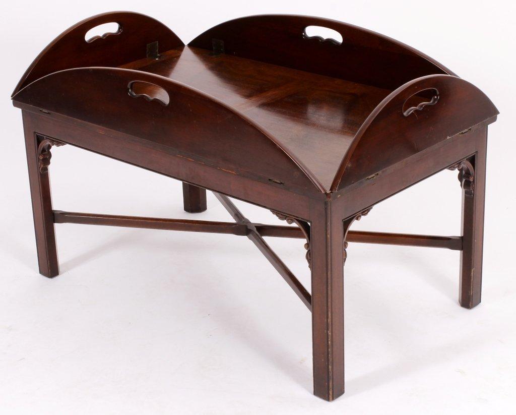 English Mahogany Butlers Tray Table