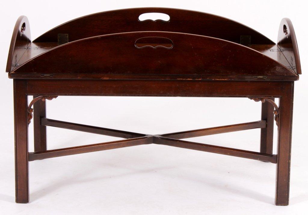 English Mahogany Butlers Tray Table - 2