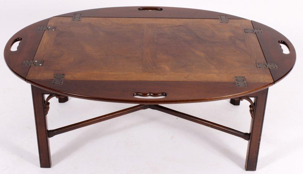 English Mahogany Butlers Tray Table - 3