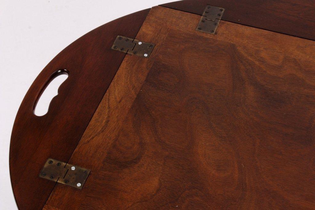 English Mahogany Butlers Tray Table - 4