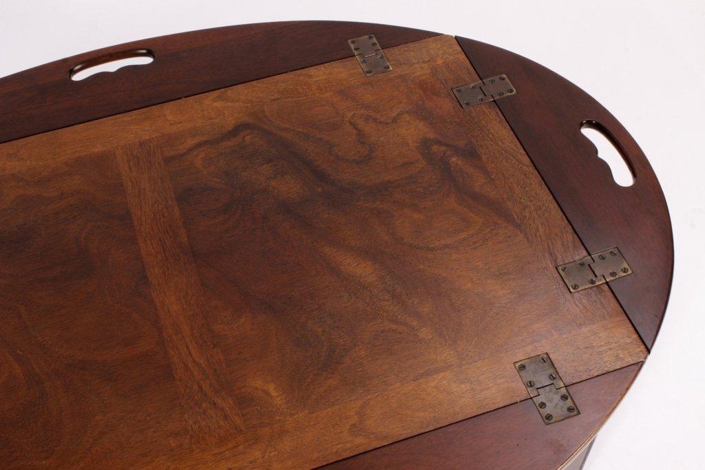 English Mahogany Butlers Tray Table - 5