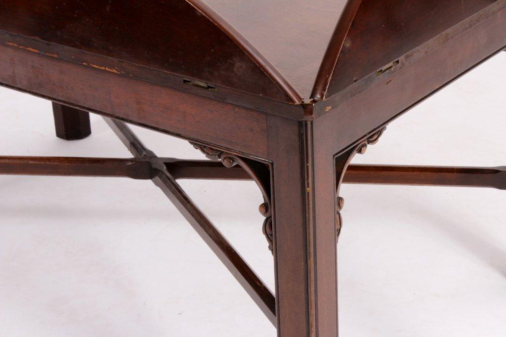 English Mahogany Butlers Tray Table - 6