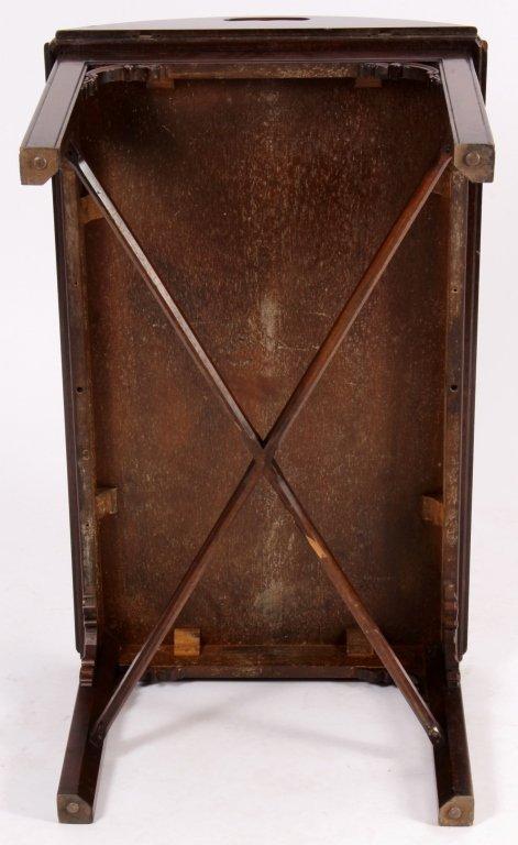English Mahogany Butlers Tray Table - 7