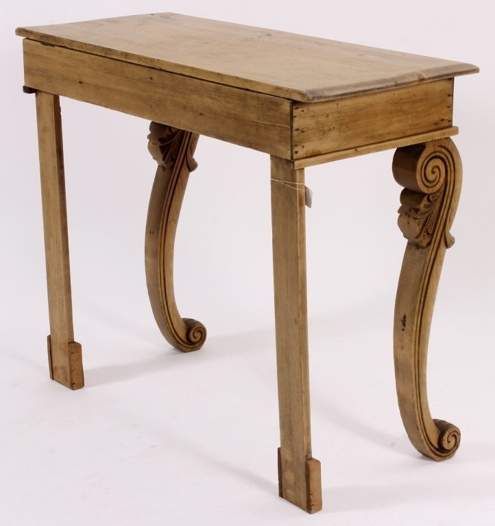 Console Table, Pine,  American, 20th C. - 5