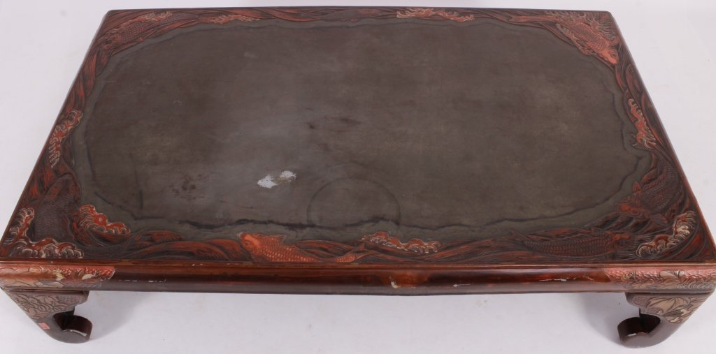 Asian Lacquered Coffee Table - 2