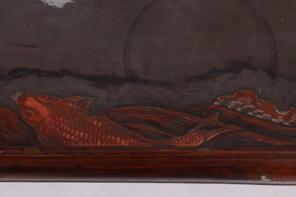 Asian Lacquered Coffee Table - 3