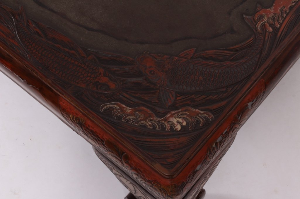 Asian Lacquered Coffee Table - 4