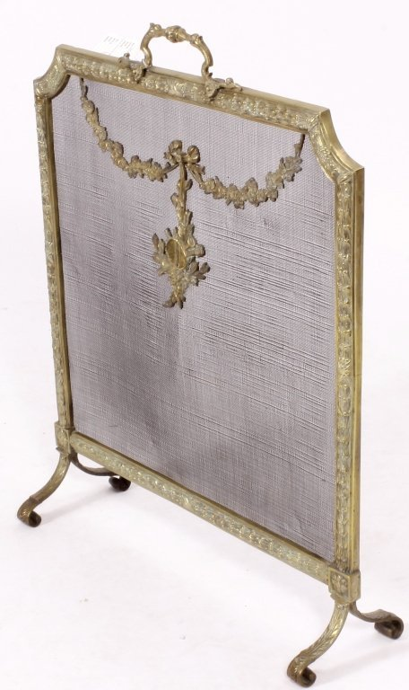 Louis XVI Style Brass and Mesh Fire Screen, E 20 C - 2