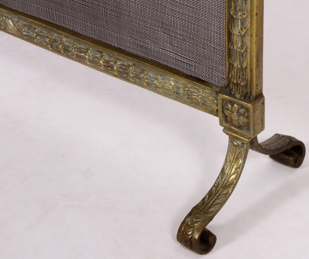Louis XVI Style Brass and Mesh Fire Screen, E 20 C - 3