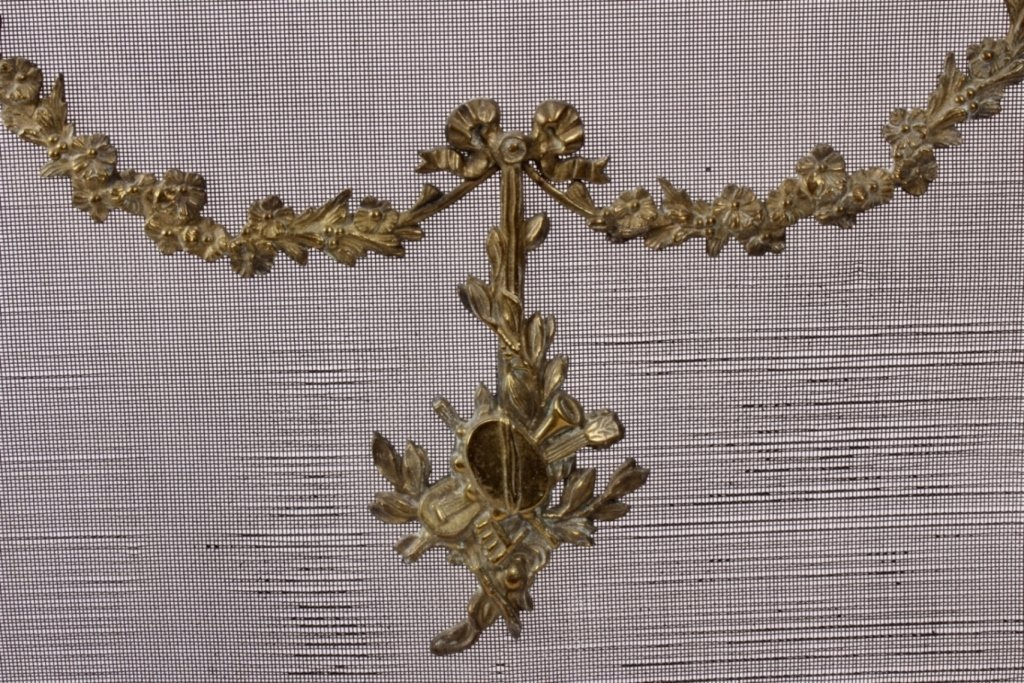 Louis XVI Style Brass and Mesh Fire Screen, E 20 C - 4