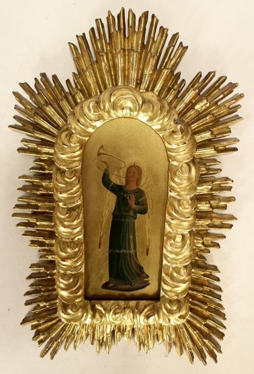 Italian Carved Gilt Wood and Painted Objects - 2